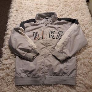 Nike Jackets & Coats - Nike Windbreaker jacket boys 6 grey zip spellout